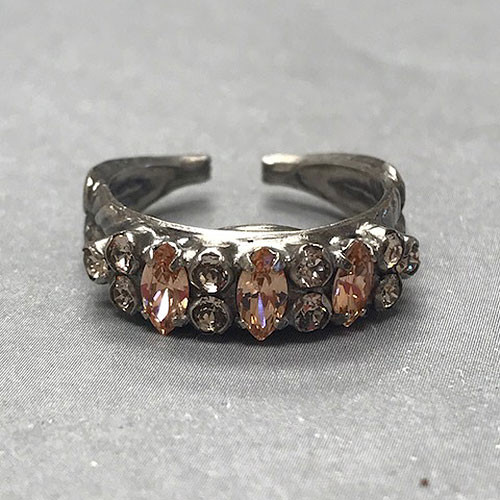 Sorrelli Blush Crystal Band Ring