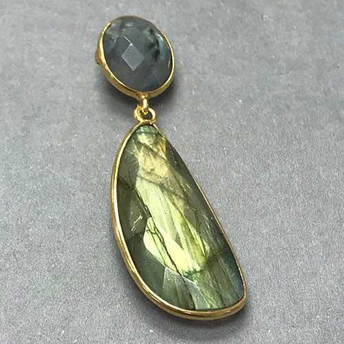 Labradorite Gemstone Drop Earrings