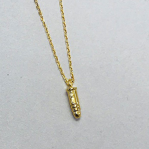 The Protective Golden Bullet Necklace