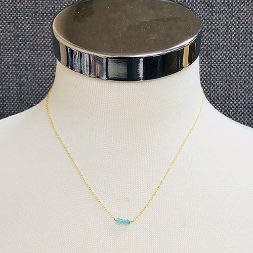 Dainty Five Semi-Precious Stone Bar Necklace