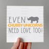 Chubby Unicorns Digital Cutting File
