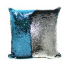 Sequin Mermaid Pillow Cover in Teal/Silver Combo