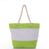 Stripe Rope Handle Tote Lime
