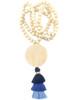 Wood & Bead 3 Tier Tassel Necklace