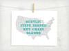 Acrylic State Shaped Key Chain Blanks