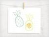 Pineapple and Pineapple Monogram Digital Cutting File