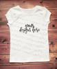 Plain White Short Sleeve Girls T Shirt Mock-Up