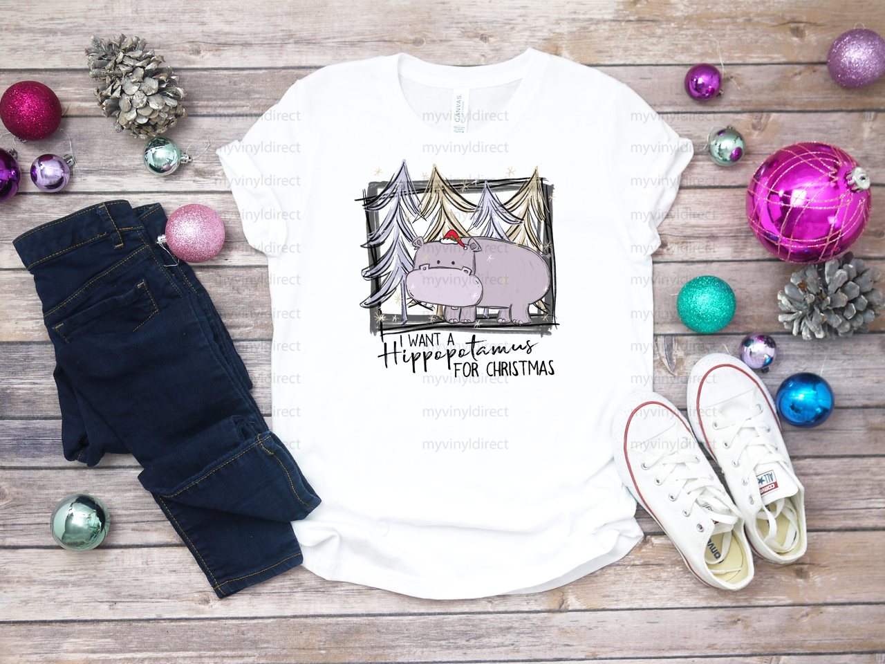 I Want A Hippopotamus for Christmas | Sublimation Transfer - My ...