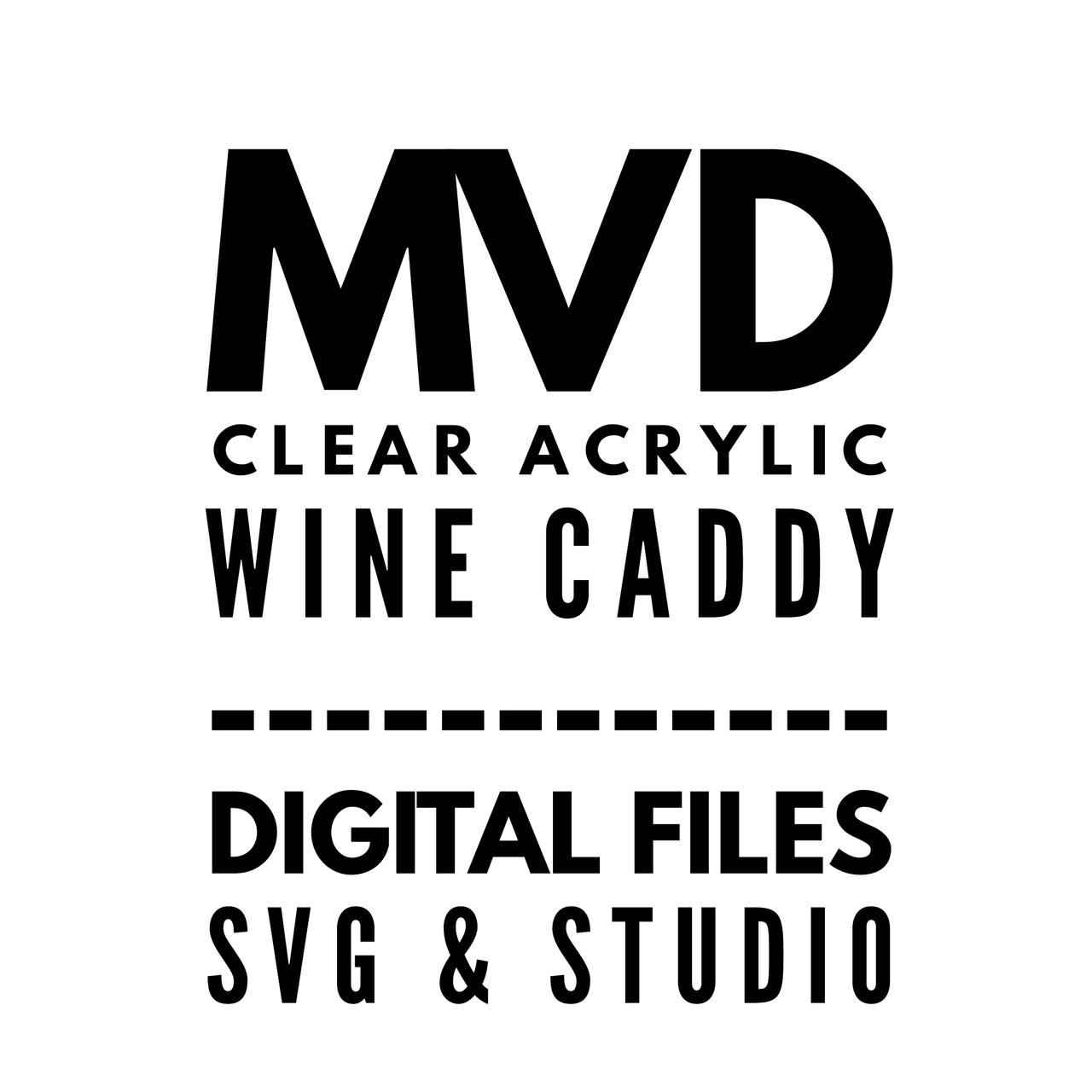 Mvd Clear Acrylic Wine Caddy Digital Files My Vinyl Direct