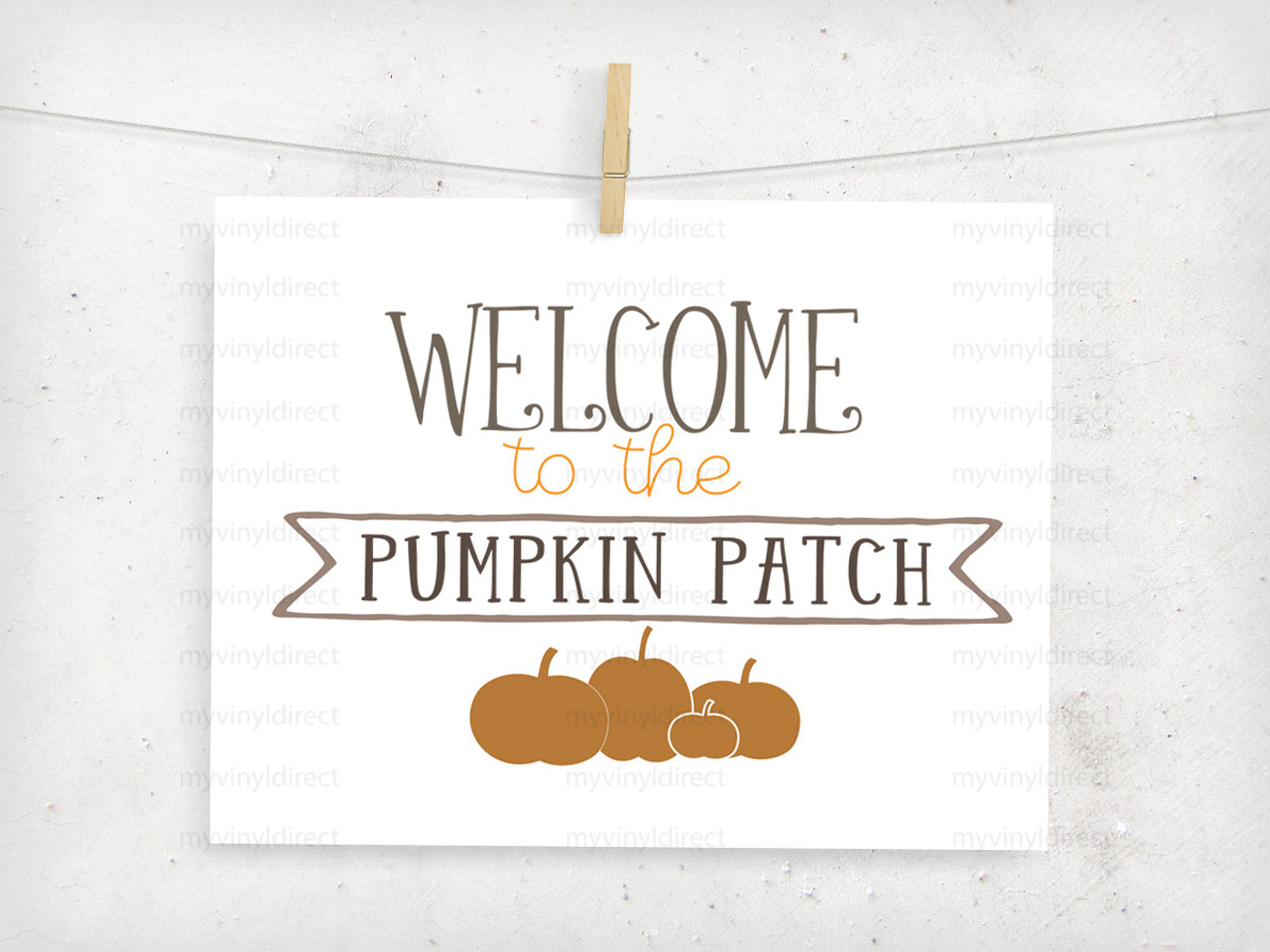 Welcome To The Pumpkin Patch Digital Cutting File My