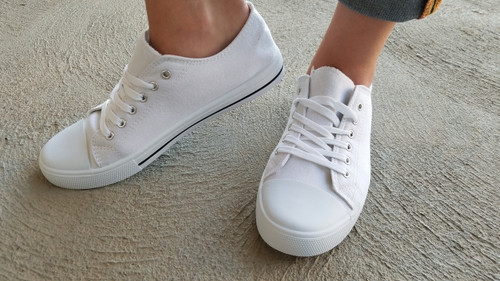 White Canvas Sneaker