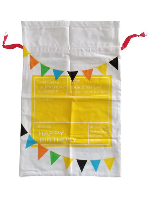 Bunting Banner Birthday Sack