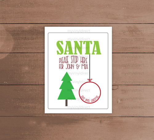 Santa Please Stop Here Countdown Digital Cutting File