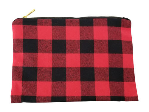 Red Buffalo Check Make Up Bag