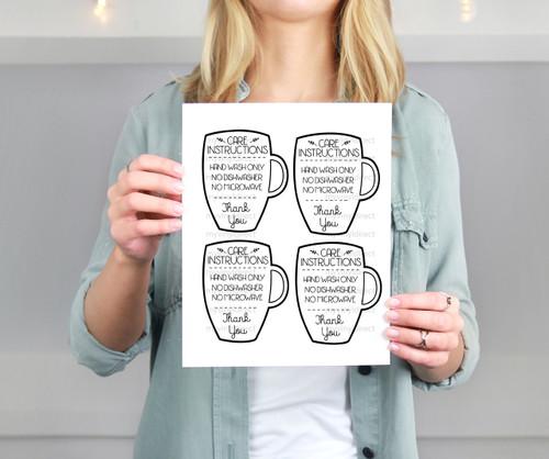 Mug Care Instructions Printable File My Vinyl Direct