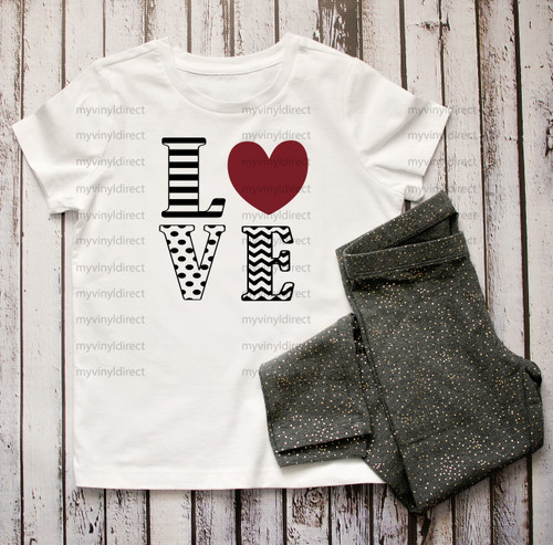 Love Stack HEAT PRESS TRANSFER