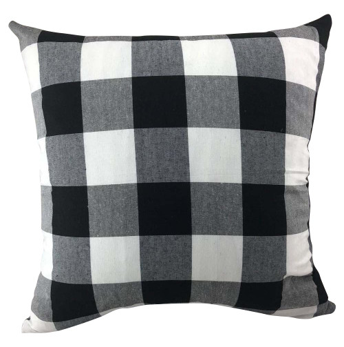 White & Black Buffalo Check Pillow Cover