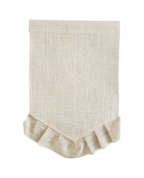 Ruffled Pennant Garden Flag: Natural