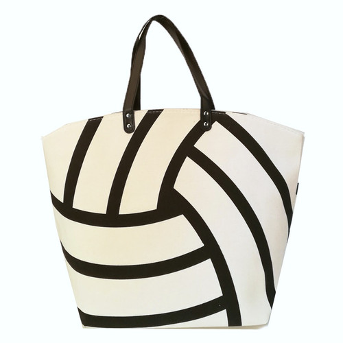 White Volleyball Tote