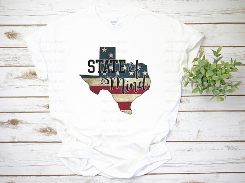 Texas State of Mind | Sublimation Transfer