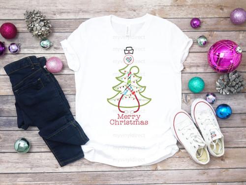 Nurse Stethoscope Christmas Tree  Cotton Transfer