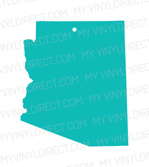 Clear Acrylic Key Chain State Blanks My Vinyl Direct