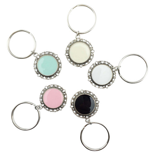 Filigree Key Chain: Colors available: Mint, Cream, White, Black, Pink