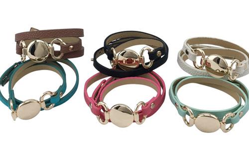 Skinny Wrap Leather Bracelet