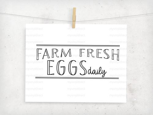 Farm Fresh Eggs Digital Cutting File