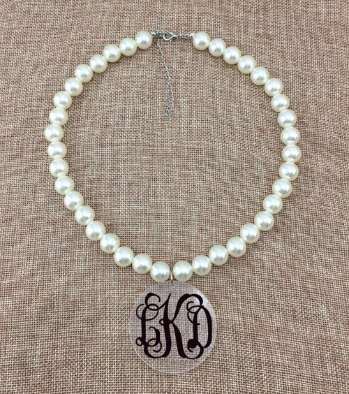 Pearl & Acrylic Necklace