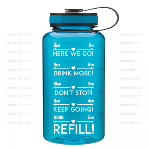 Daily H2O Water Bottle Digital Cutting File #6