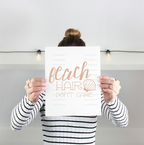 Beach Hair Don't Care Digital Cutting File