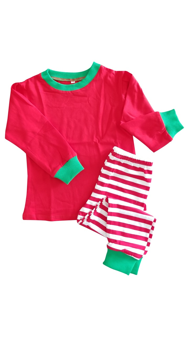 online for sale 27f2f 68241 red christmas pajamas top bottom set