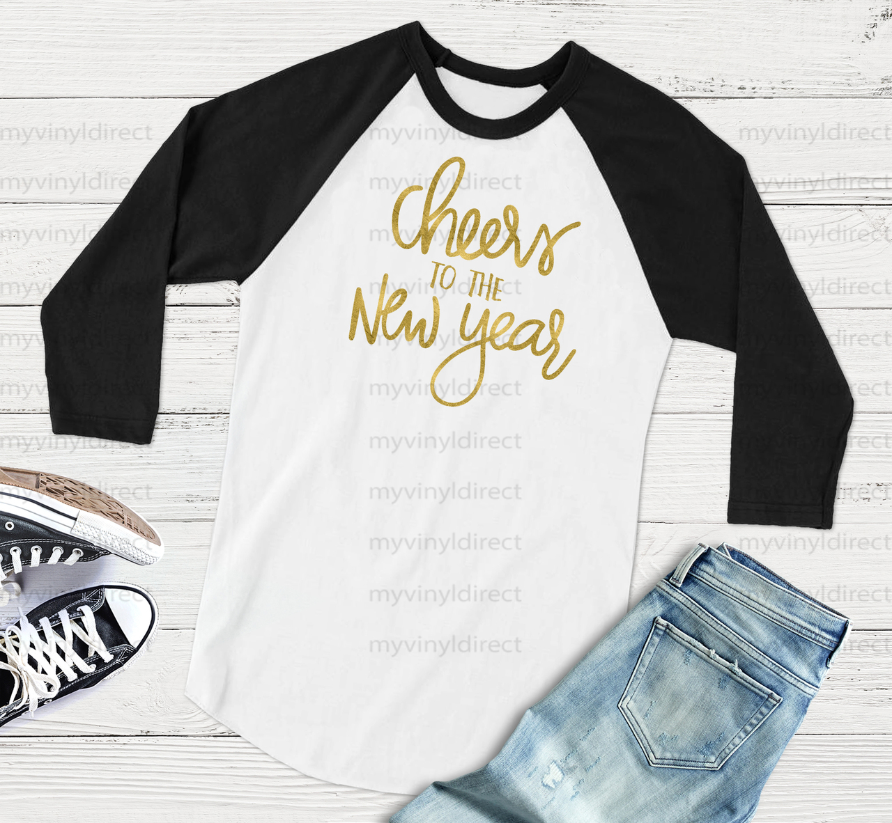Cheers To The New Year HEAT PRESS TRANSFER - My Vinyl Direct