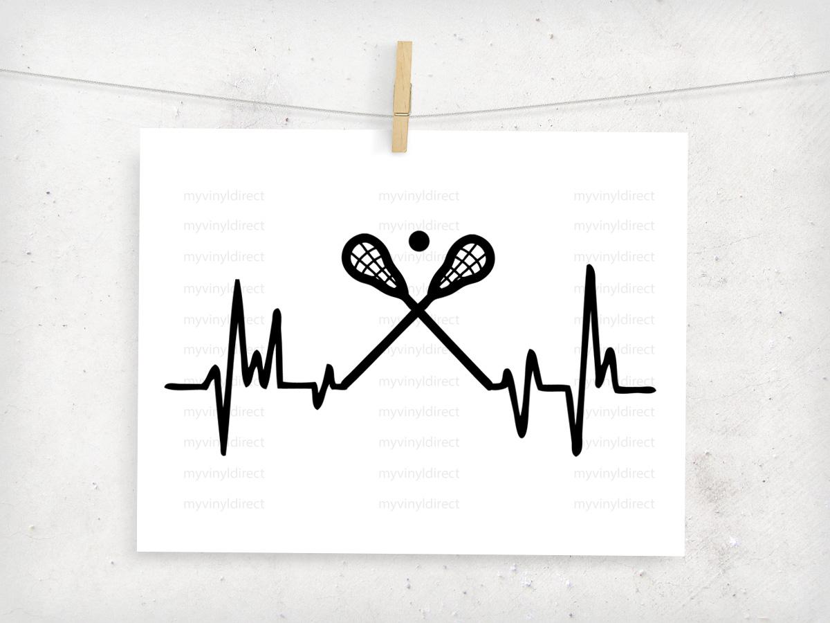 Heartbeat Line Art : Lacrosse heartbeat digital cutting file my vinyl direct