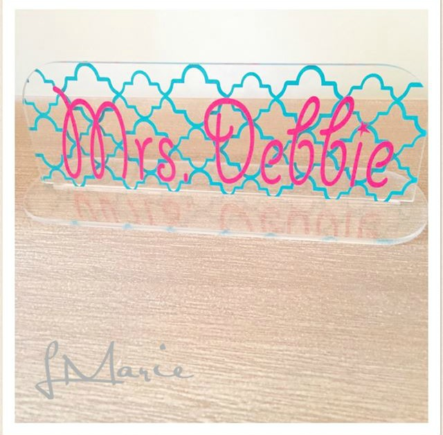 Relatively Acrylic Desk Name Plate - My Vinyl Direct VV63