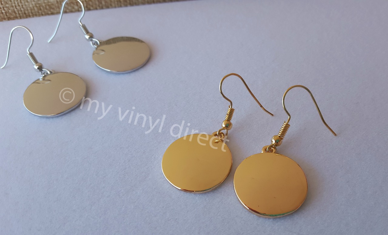 for simple gold gift pin her small disc earrings