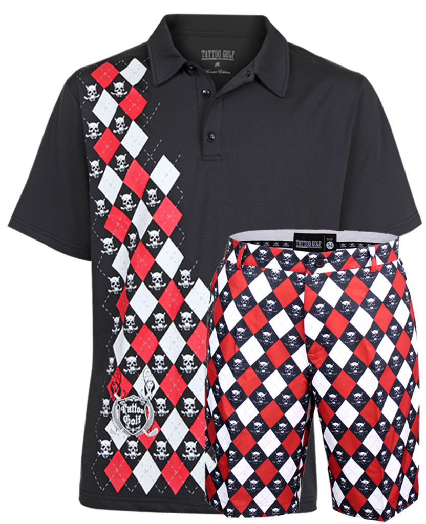 black monster golf outfit