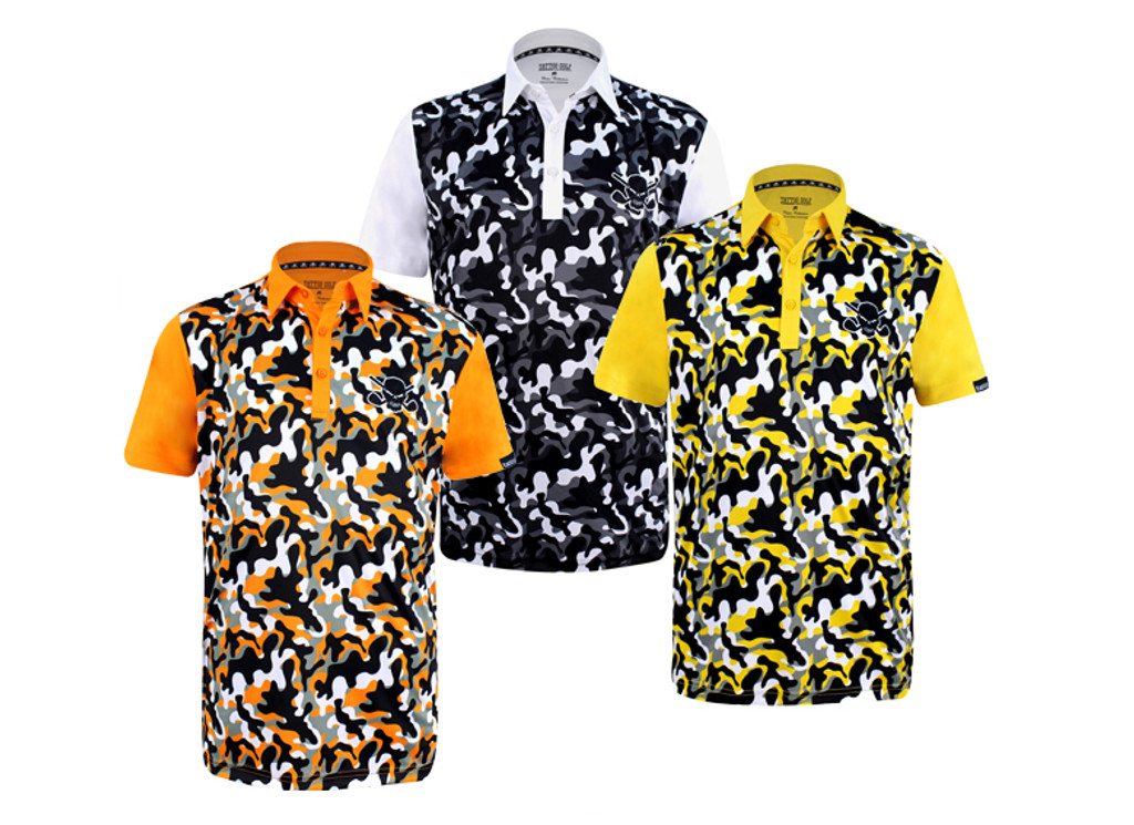 ☠ New Camo Men's Golf Shirts ☠
