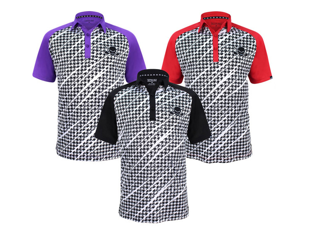 New Men's ProCool Houndstooth Golf Shirt