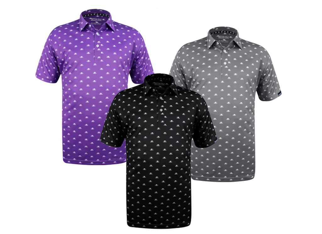 Now Available Micro Skulls Golf Shirts