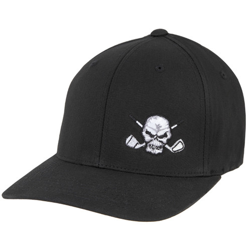Golf Hat Small Skull (Black)