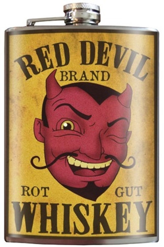 Red Devil Whiskey Flask