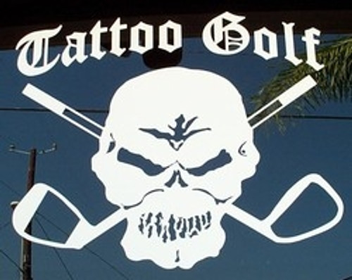 Tattoo Golf Vinyl Skull Decals