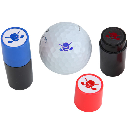 Golf Ball Stamp W/ Skull Design