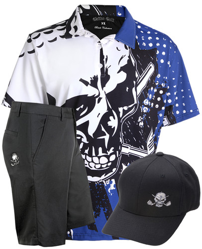 Blade Polo, Shorts & Hat (Blue/Black)