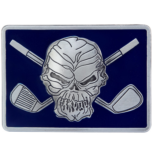 Tattoo Golf Belt Buckle - Blue Gloss