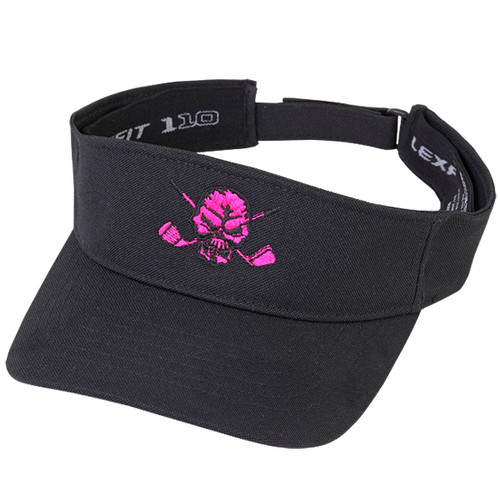 Lucky 13 Golf Visor (Black/Pink)