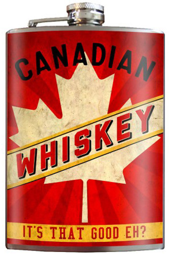 Canadian Whiskey Flask