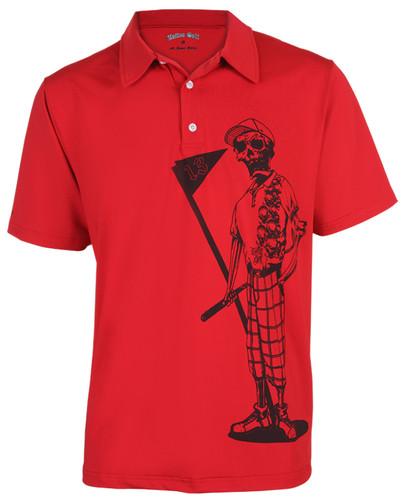 Mr. Bones Men's Golf Shirt (Red)